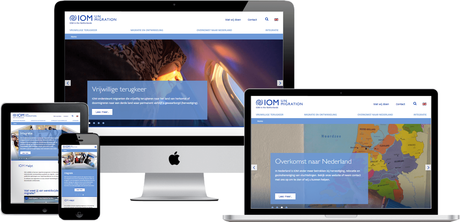 International Organization for Migration (IOM) new website