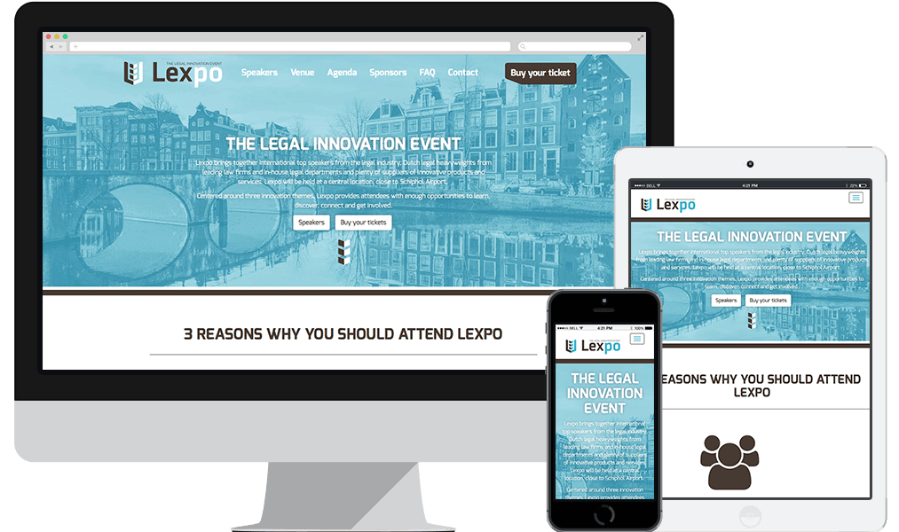 Responsive event website Lexpo