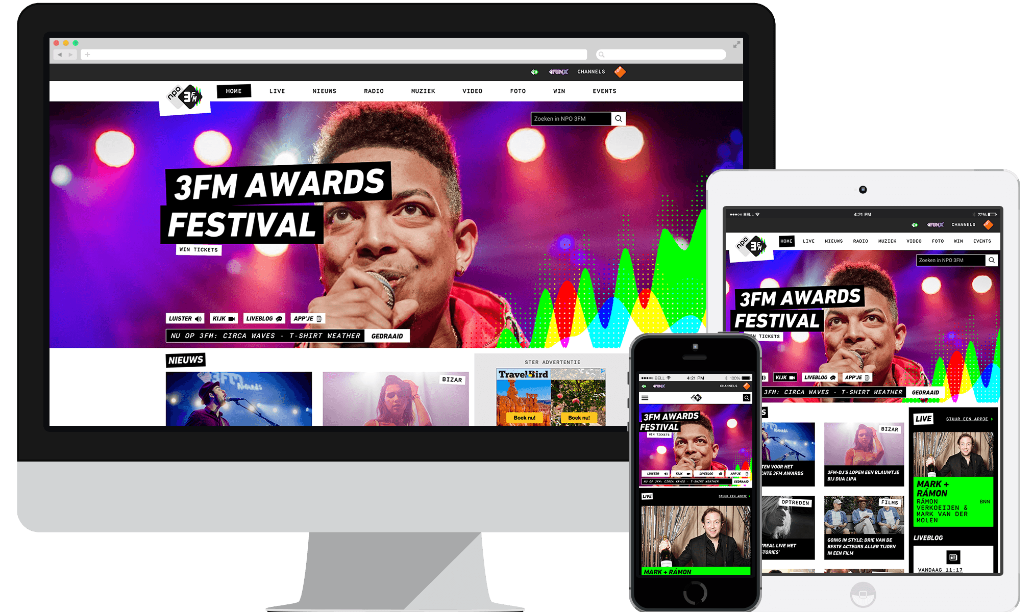 New Radio 3FM website